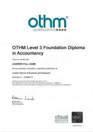 LSBR, UK - Sample Level 3 Diploma in Accountancy