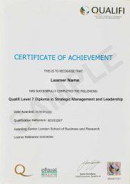 LSBR, UK Qualifi Level 7 Diploma in Strategic Management and Leadership