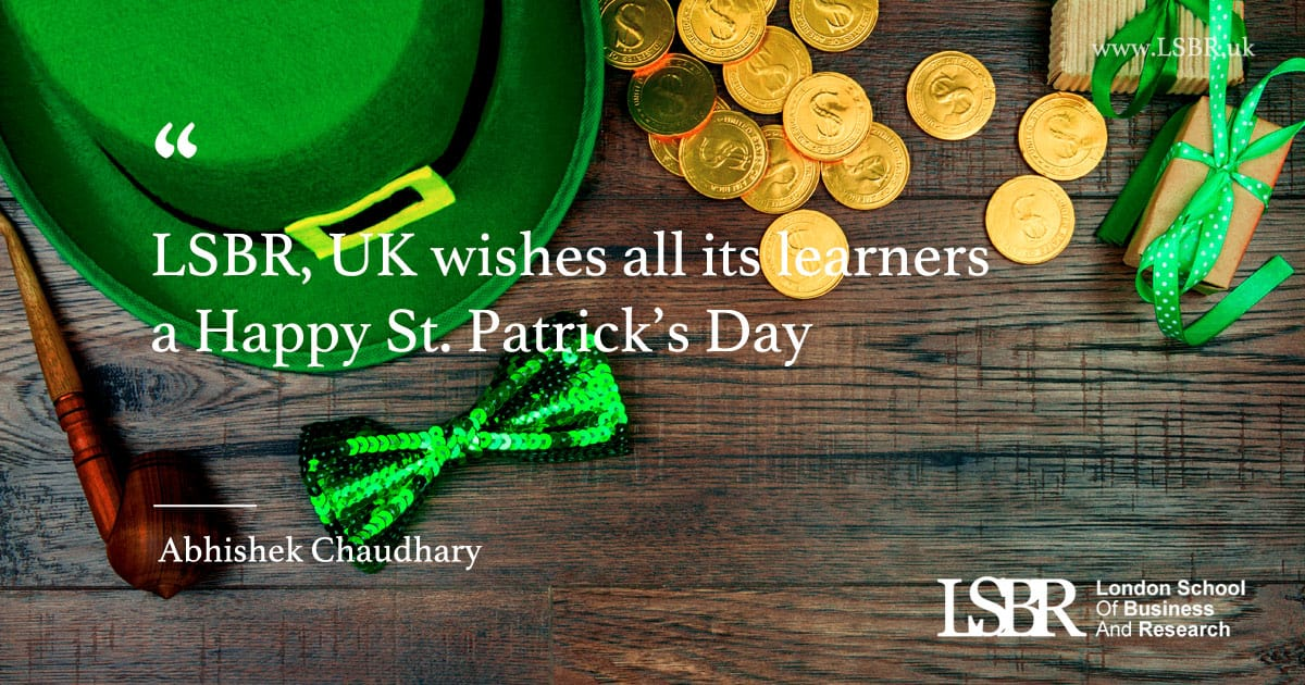 LSBR, UK wishes you all a Happy Saint Patrick's Day