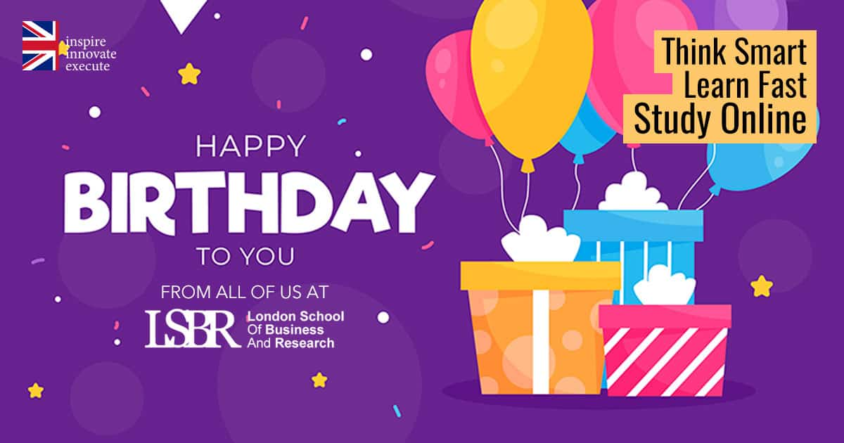 Happy Birthday from all of us at LSBR, UK