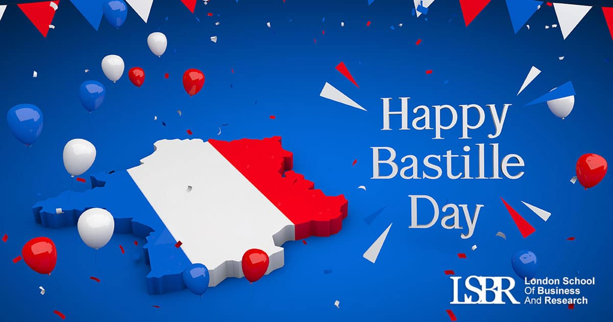 LSBR, UK wishes all our learners on the French National Day - Bastille Day