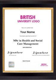 LSBR,UK MSc in Health and Social Care Management