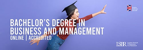 Online Undergraduate Bachelor's Degree in Business and Management at LSBR, UK