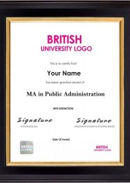 LSBR,UK MA in Public Administration
