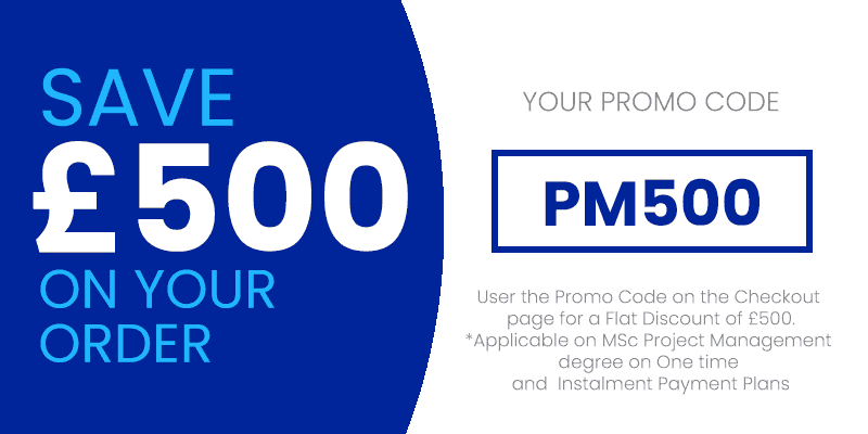 £500 Bursary available on MSc Degree in Project Management