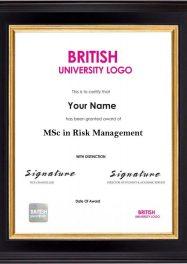 LSBR,UK MSc in Risk Management