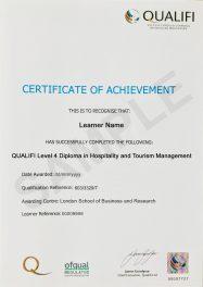 LSBR, UK Qualifi Level 4 Diploma in Hospitality and Tourism Management